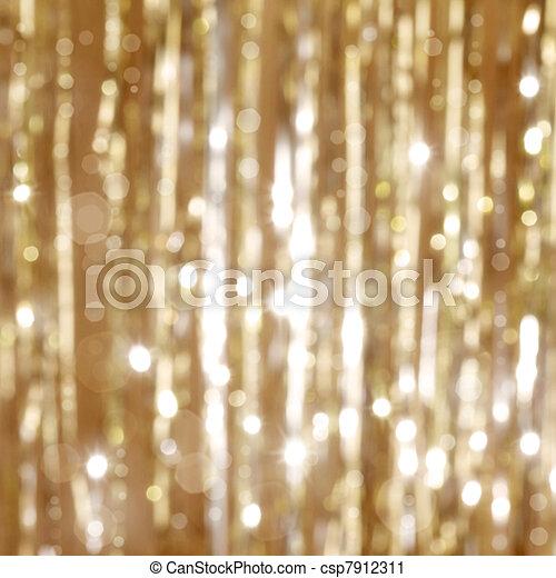 dorado, navidad, plano de fondo - csp7912311