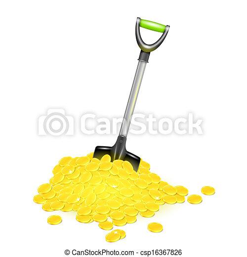 Shovel en oro. - csp16367826