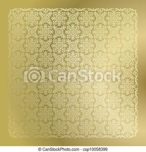 Papel pintado de damasco dorado sin costura - csp10058399