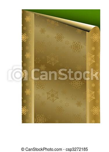Tarjeta de Navidad con papel dorado - csp3272185