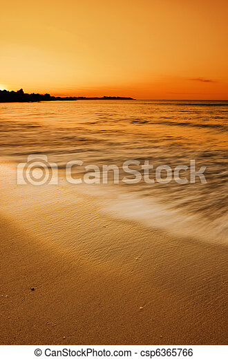 Golden Beach Sunset - csp6365766