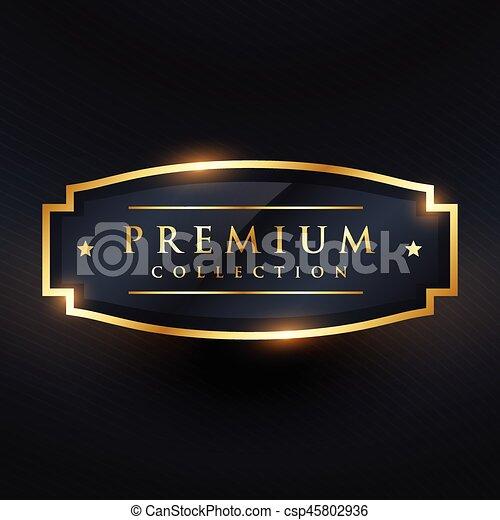 Coleccion de Premium placa de oro y diseño de etiqueta - csp45802936