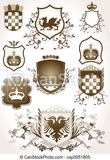 Escudos dorados - csp3051805