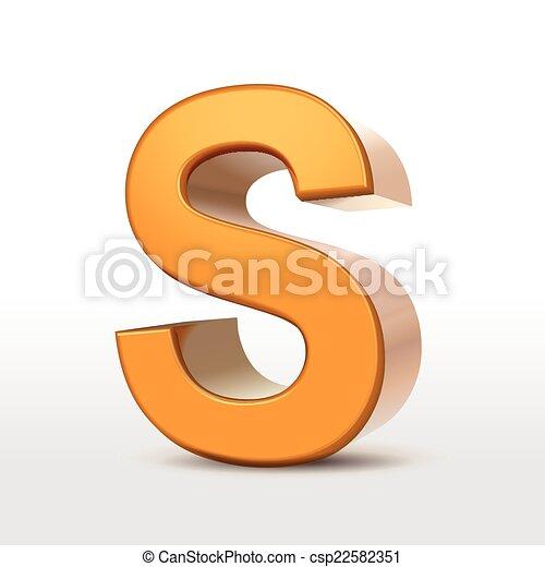 Oro 3D alfabeto S - csp22582351
