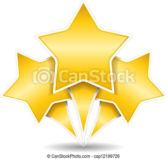 Tres estrellas doradas - csp12199726