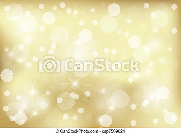 dorato, luminoso, puntino, fondo - csp7509024