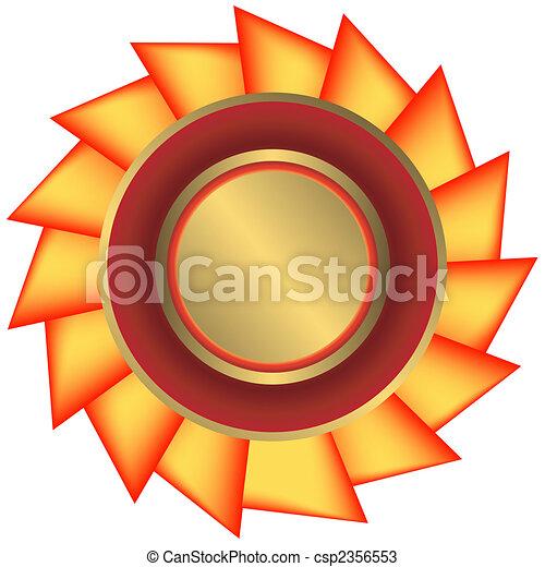 dorato, medaglia, nastro, (vector) - csp2356553