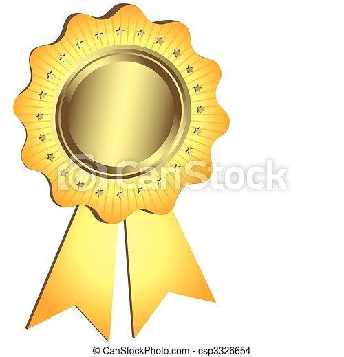 dorato, premio, nastro, (vector) - csp3326654