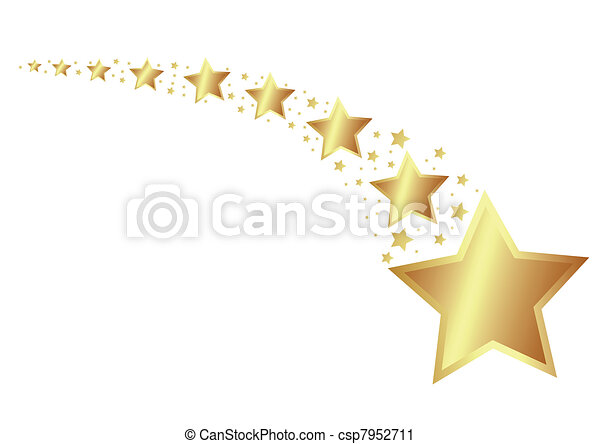 dorato, stelle - csp7952711