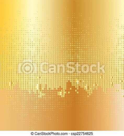 dorato, twinkly, fondo, luce - csp22754625