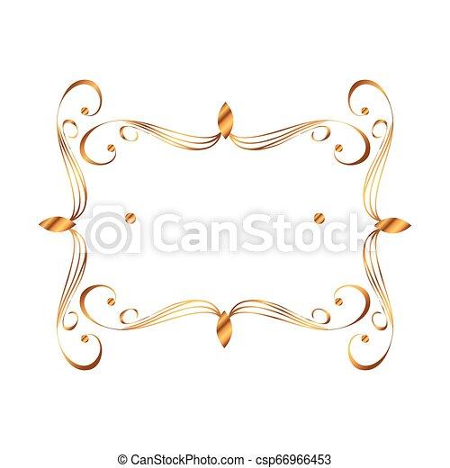 dorato, vittoriano, quadrato, stile, etichetta - csp66966453