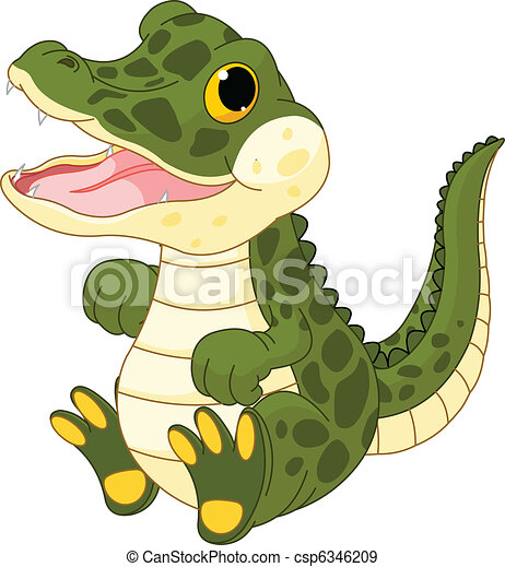 dorlotez fille, crocodile - csp6346209