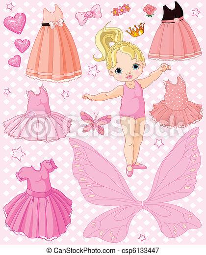 dorlotez fille, différent, robes - csp6133447