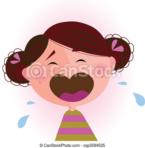 dorlotez fille, pleurer - csp3594525
