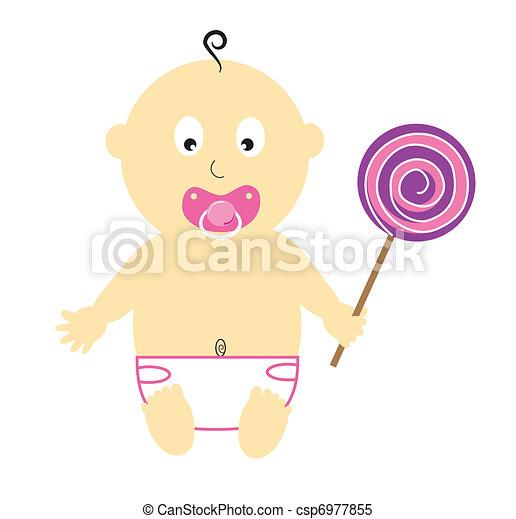 Dorlotez fille sucette rose pourpre girl sucette b b - Dessin sucette bebe ...