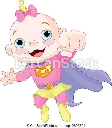 Dorlotez fille super b b super girl h ros illustration - Image super heros fille ...