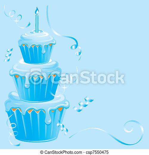 Dorlotez Garçon Anniversaire Petit Gâteau Bleu Parfait Garçon