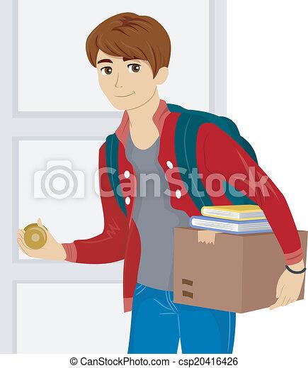 Dorm Room Move - csp20416426