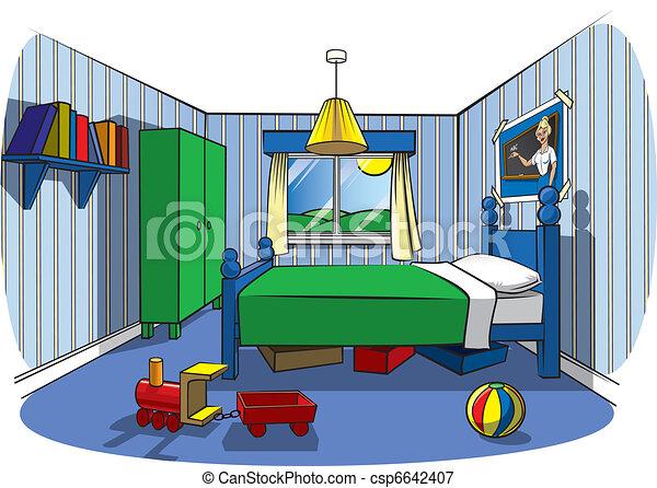 El dormitorio de los niños - csp6642407