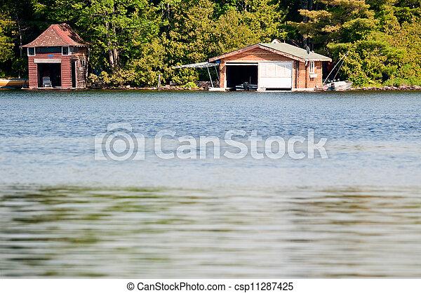 dos, boathouses - csp11287425