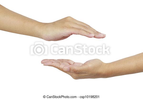 Dos manos - csp10198201