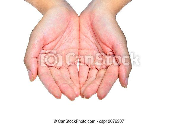 Dos manos - csp12076307