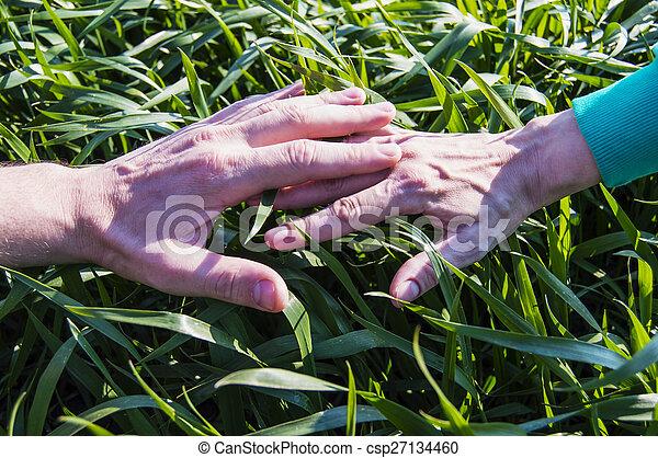 Dos manos - csp27134460