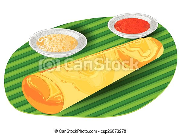 Dosa indian traditional food isolated on a white for Artisan cuisine of india