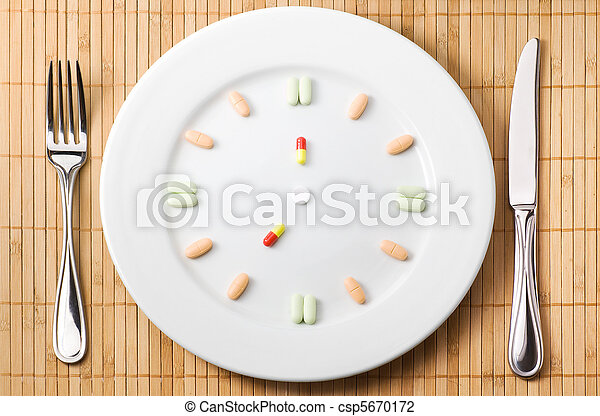 Dosing medications shedule concept - csp5670172
