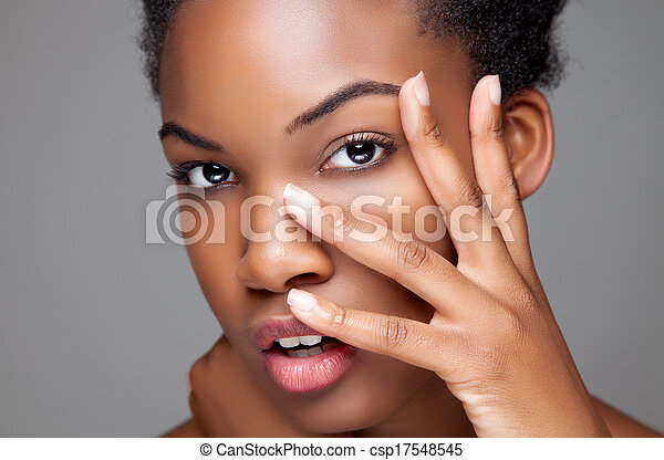 doskonały, czarnoskóry, piękno, skóra - csp17548545