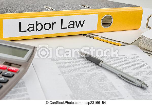 dossier, main-d'œuvre, droit & loi, étiquette - csp23166154