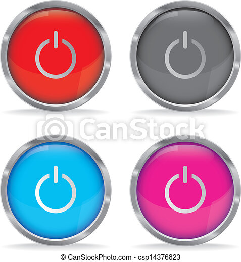 dostarczcie energii elektrycznej guzik - csp14376823