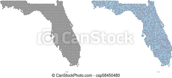 Dot Florida Map Abstractions - csp58450480