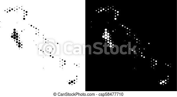Dot halftone bahamas islands map. Dotted halftone bahamas islands ...