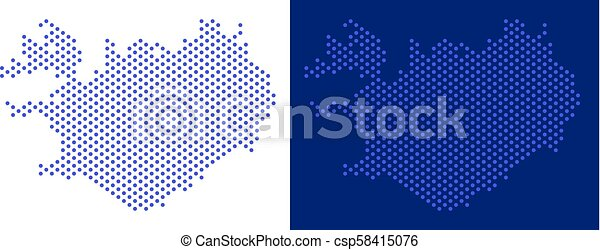 Dot iceland map. Pixel iceland map. vector geographic map on white ...