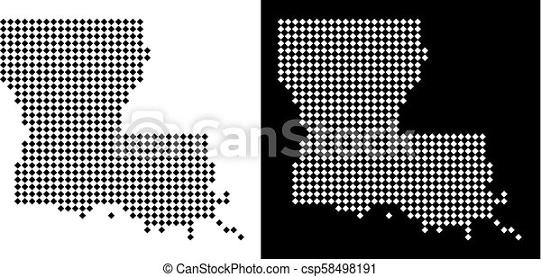 Dot louisiana state map. Vector rhombic dotted louisiana state map ...