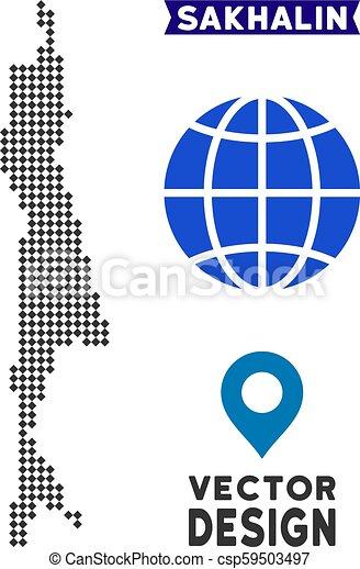Dot Sakhalin Island Map