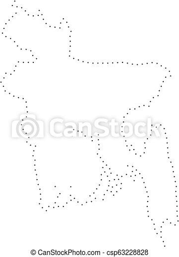 Dot Stroke Bangladesh Map