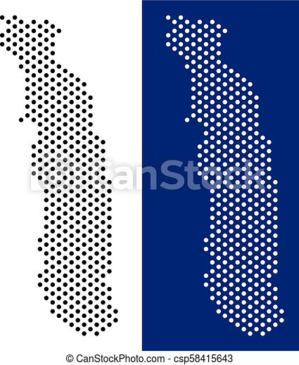 Dot togo map. Dotted togo map. vector geographic map on white and ...
