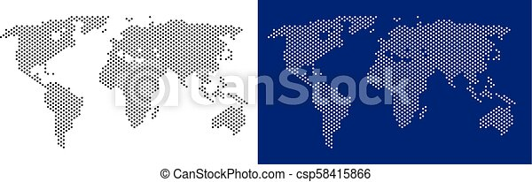 Dot World Map.Dot World Map Pixel World Map Vector Geographic Map On White And