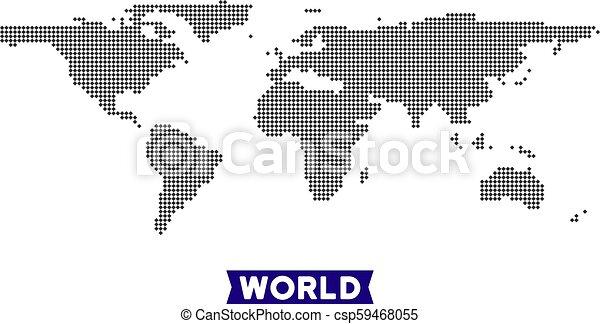 Dot World Map.Dot World Map Dot World Map Vector Geographic Scheme In Dark Gray