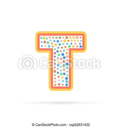 Dots And Letter T Logo With Circles Abstract Design Creative Symbol Vector