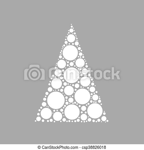 Dotted Christmas Tree Simple Abstract Chrismas Of Dots Or