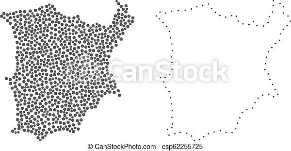 Dotted contour map of koh samui. Dot and frame map of koh samui ...