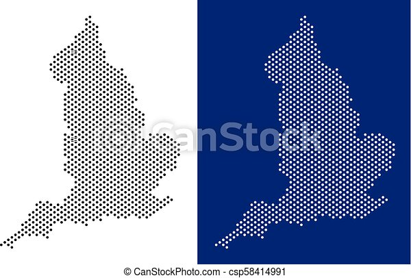 Geographic Map Of England.Dotted England Map