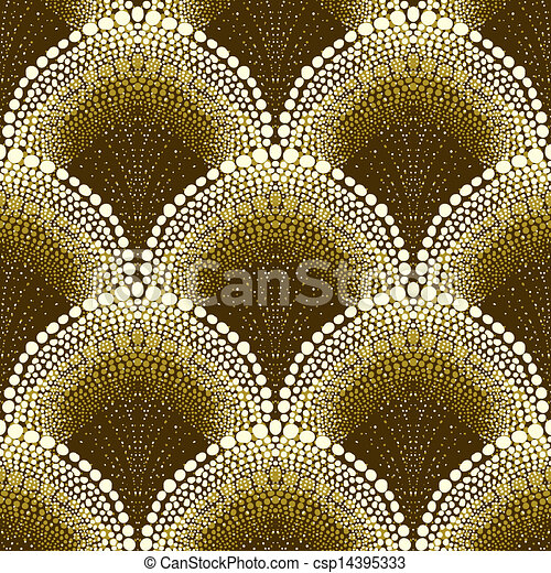 Dotted geometric pattern in art deco style - csp14395333