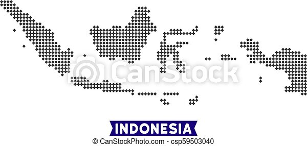 Dotted indonesia map. Dot indonesia map. vector territory map in ...