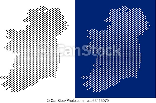 Map Of Ireland Islands.Dotted Ireland Island Map