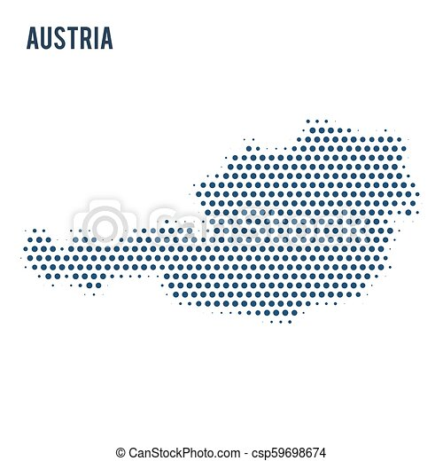 Dotted map of Austria isolated on white background. - csp59698674