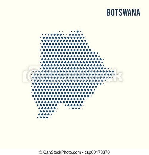 Dotted map of Botswana isolated on white background. - csp60173370